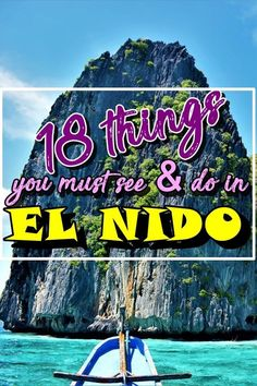 18 things you must see & do in El Nido, Philippines El Nido means much more than just a gathering of 45 islands, randomly chosen from the over 7000 of the Philippines. It is an idyllic place where El Nido Palawan, Palawan Island, Philippines Travel Guide, Visit Philippines, Manila, Vietnam, Posters Vintage, Photo Vintage, Thailand