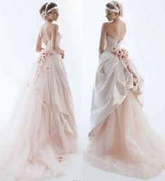 palest pink gown