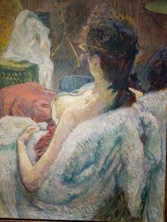 Pastel work by Toulouse-Lautrec   Model resting