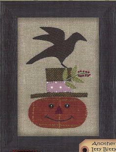 Primitive Folk Art Wool Applique Pattern:  HAPPY JACK