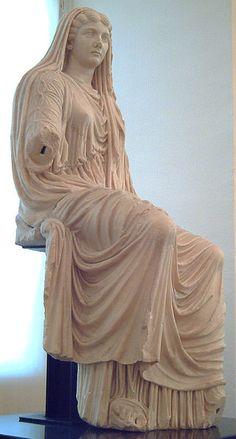 Livia Drusilla (58 BC–29 AD) wearing a stola and palla - early 1st century - Museo Arqueológico Nacional de España, Madrid