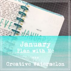 Creative Watermelon - Bullet Journal: Plan with Me 1: January 2017 (+ Youtube Video)