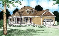 House Plan 99936 | Plan with 1506 Sq. Ft., 3 Bedrooms, 2 Bathrooms, 2 Car Garage