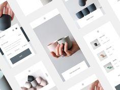 Kiln Grid designed by Greyson Quinn. Mobile Ui Design, App Design, Flat Design, Websites Design, Ecommerce App, App Ui, Software Apps, User Interface Design, Graphic Design Branding