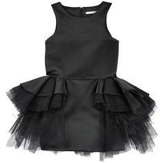 MISCHKA AOKI Robe exceptionnelle en satin et volants en tulle et plumes - Noir 1 107,00 €