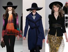Another trend that is influenced by the 1970's are the wide brim hats that were worn in fall. These 70's inspired hats are wool felt hats and can be seen in different colors and shapes. Jasmine B.
