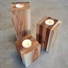 These reclaimed Cedar wood candle pillars create the perfect rustic feel for your wedding, party, or use them in your urban home as a beautiful addition to your decor. Accent your Charcuterie spread or cast a glow on your dining room table for lat. Home Candles, Tea Light Candles, Pillar Candles, Tea Lights, Woodworking Candle Holder, Candler Holder, Charcuterie Spread, Diy Projects To Try, Wood Projects