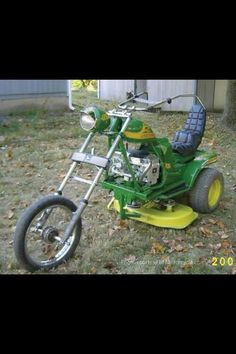 Looks like that mower could pick up some speed. The kids would actually fight to mow the lawn.
