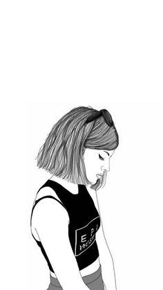 Le fond ecran tumblr fond d'écran verrouillage idée téléphone écran style tumblr fille dessin noir et blanc trop cool