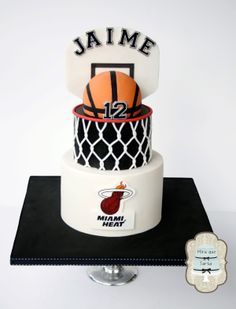 Basketball cake. By #miraquetarta