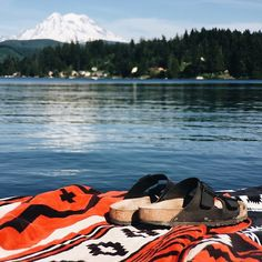 We're so blessed to share moments like this with our family and friends. Photo by @benjhaisch #relax #pendleton #pendletontowels #lake #vacation #nature *Click the link in our bio to shop today.