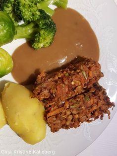 Linsestek ⋆ Gina Kristine Meatloaf, Vegan Recipes, Beef, Food, Meat, Vegane Rezepte, Essen, Meals, Yemek