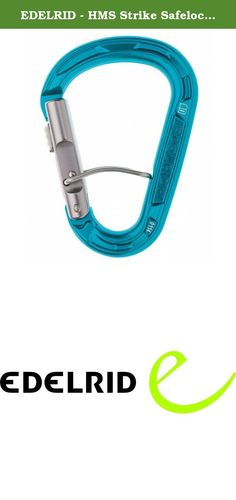 EDELRID - HMS Strike Safelock Carabiner, Icemint. Edelrid brings you the first ever HMS carabiner with two independent, automatic locking mechanisms. We've combined our tried-and-tested slide-gate with a new spring bar mechanism to make an exceptionally safe HMS carabiner. SPECS: Weight: 66g; Tensile strengths of: 22kN (major); 8kN (minor); 7kN (open). --The History of EDELRID-- EDELRID was founded by Julius EDELmann and Carl RIDder in 1863. At first, the company made braids and cords....