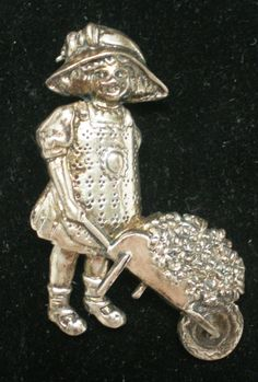Vintage Brooch Sterling Silver 925 Stamped EFS by BagsnBling, $35.00  Very Collectible Piece