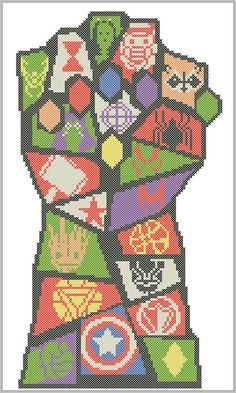 BOGO FREE! Avengers infinity war logo Marvel logos comic characters Cross Stitch Pattern - pdf pattern instant download #363