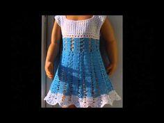 Como tejer a crochet vestido para niña (1/2) - YouTube