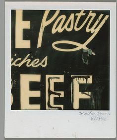 Walker Evans, Detail of Restaurant Sign Lettering, 1974, photograph, The Metropolitan Museum of Art