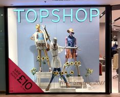 Inspired by this, put a mannequin in a dance pose -- add some dancewear and you've got a neat dance studio window display