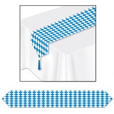 "Printed Oktoberfest Table Runner 11"" x 6'"