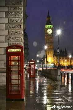 Rainy night in London, view of Big Ben Rainy Mood, Rainy Night, Europa Center, Big Ben, The Merchant Of Venice, Places In Europe, Greater London, England Uk, Viajes