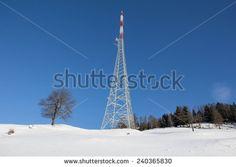 #Winter #Landscape #Broadcasting #Tower #Mitterberg @Shutterstock #Shutterstock #landscape #snow #nature #carinthia #austria #radenthein #view #panorama #outdoor #season #december #photo #stock #new #portfolio #download #hires