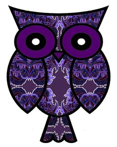 purple wall art, modern purple art, purple owl, owl poster, owl artist, bird artist, whimsical bird picture, modern bird picture, bird wall. $17.00, via Etsy.