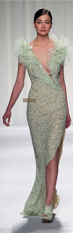 """Abed Mahfouz Couture Spring Summer 2013 ♥♡♥♡♥Thanks, Pinterest Pinners, for stopping by, viewing, re-pinning,  following my boards.  Have a beautiful day! ^..^ and """"Feel free to share on Pinterest ^..^ #fashion   #fashionupdates"""