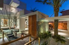 Contemporary three level home on Amwaj Island, Bahrain -- built by interiors and design consultants firm Moriq