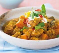 Tasty chicken and pumpkin stew (172 cals per serve) #dairy free #low sodium