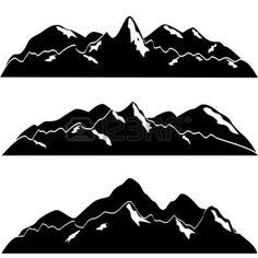 Mountain River Clip Art Black And White Berg Clipart 10417052 Mountain