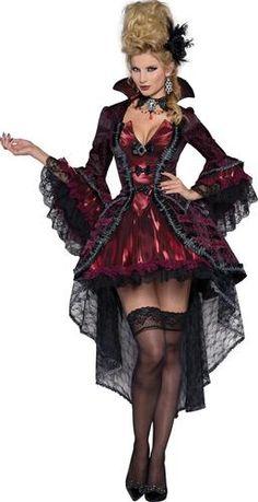 Womens Victorian Vamp Costume, Sexy Vampire Costume - Small for sale online Victorian Vampire Costume, Sexy Vampire Costume, Vampire Dress, Costume Sexy, Queen Costume, Gothic Vampire, Vampire Queen, Female Vampire, Victorian Halloween