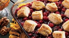 Fruit-juicy cobbler just got quicker with sweetened refrigerated biscuits.