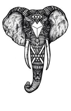 indian elephant head tattoos - Google Search