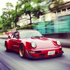 "911 // Shinji is the owner of this beast! ""Good Hills Speed"" lots of love for RWB cars"
