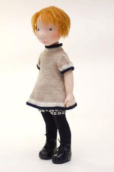 Noa Handmade cloth doll by AldegondeCeelen on Etsy