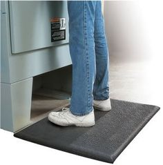 """AirLift Standard 5/8"""" Thick - Commercial Industrial Antifatigue Work Mat - 3' x 20' - Pebbled Black by Doormats & More. $290.99"""