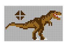 T-rex Hama bead pattern – Bügelperlen – Hama Beads Mini Cross Stitch, Beaded Cross Stitch, Crochet Cross, Cross Stitch Animals, Cross Stitch Kits, Cross Stitch Embroidery, Cross Stitch Patterns, Pearl Beads Pattern, Hama Beads Patterns