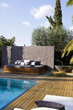 Swimming Pool Ideas more eyecandy from formentera Outdoor Rooms, Outdoor Gardens, Outdoor Living, Outdoor Decor, Outdoor Daybed, Outdoor Lounge, Landscape Design, Garden Design, Gazebos