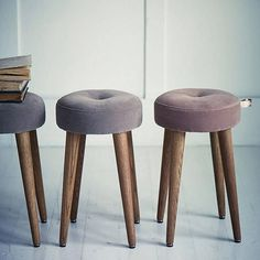 Velvet Stools - retail $347 CA (I could so easily make these).