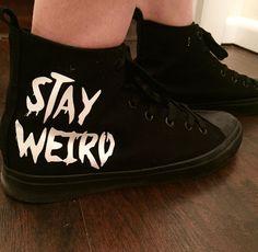 Weird Out // Stay Weird Hi-Top Sneakers