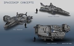Spaceship Concepts, Bryan Koh on ArtStation at…
