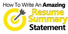 How to create great resume summary statements that will land you the interview. Includes the mistakes to avoid and great resume summary examples...