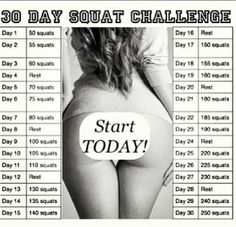 30-Day Squat Challenge Print Out | 30 Day Squat & Crunch Challenge