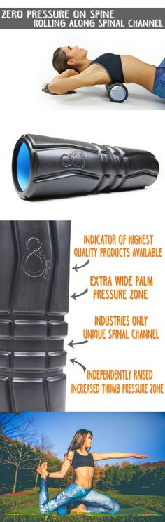 Foam Rollers 179800: Foam Roller For Muscles By Live Infinitely-17 X 5- Features First Ever Unique BUY IT NOW ONLY: $30.96