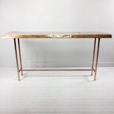 Live Edge Cherry Sofa Table. by TrendingHomeDecor on Etsy https://www.etsy.com/listing/472757276/live-edge-cherry-sofa-table