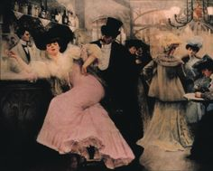 Pierre-Victor Galland. The Bar at Maxim's, 1906.