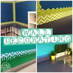 in your classroom with CTP borders? Get ideas at Core Inspiration by Laura Santos.walls in your classroom with CTP borders? Get ideas at Core Inspiration by Laura Santos. Make the edging look totally pro with washi tape. Classroom Color Scheme, Classroom Layout, Classroom Bulletin Boards, Classroom Design, Classroom Displays, Kindergarten Classroom, Future Classroom, Classroom Themes, Classroom Borders