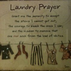 Laundry Room decor : laundry prayer