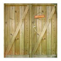 Rustic Barn Door Occupied Shower Curtain