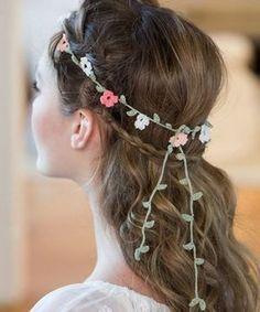 Floral Crochet Headband Free Pattern Passementerie, Floral Headbands, Flower Making, Grave, Textile Art, Free Pattern, Hui, Knitting Patterns, Crochet Patterns